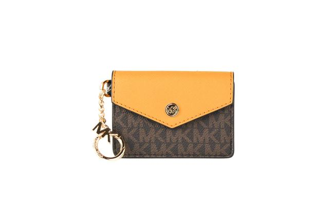 Item - Kala Small Signature Leather Flap Key Ring Card Case Women's (Marigold) Wallet