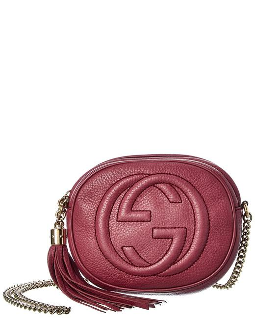 Item - Soho Pre-owned Burgundy Leather Chain Bag 7520-1 Tote