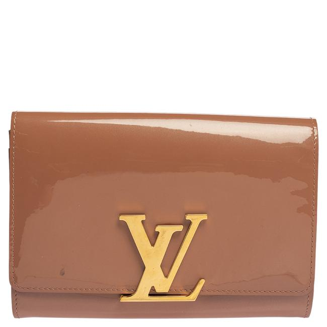Item - Rose Velours Patent Leather Clutch