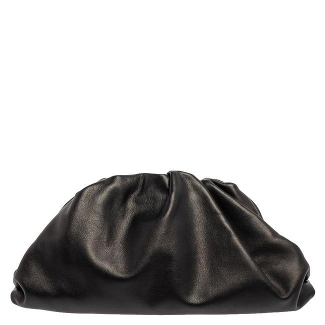 Item - Black Leather The Pouch Clutch