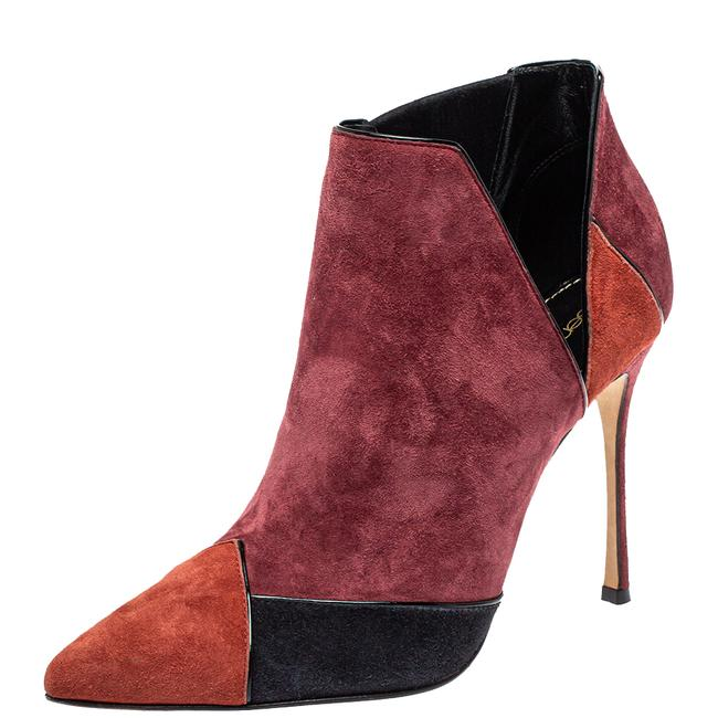 Item - Multicolor Suede Pointed Toe Ankle Size 37 Boots/Booties