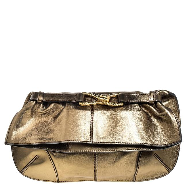 Item - Olive Green Leather Fold Over Clutch