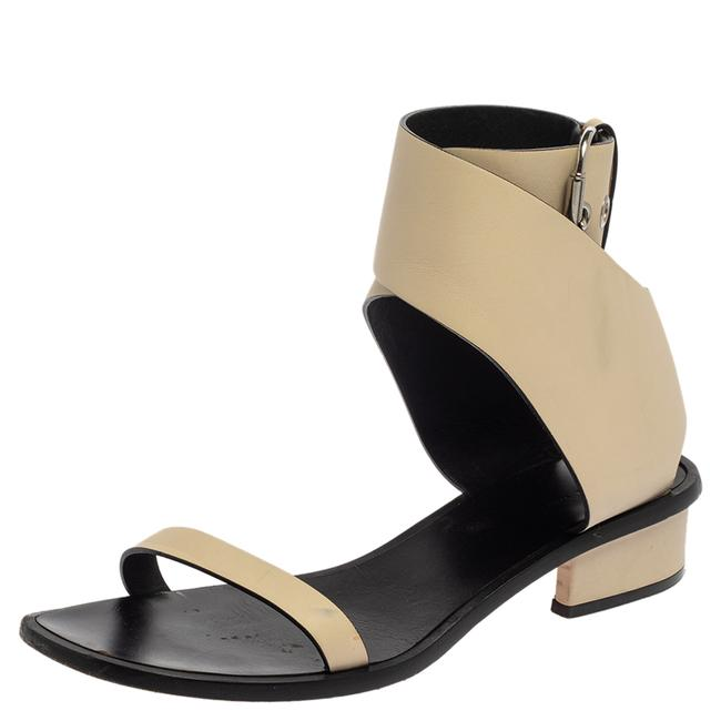 Item - Cream White Leather Ankle Strap 39.5 Sandals