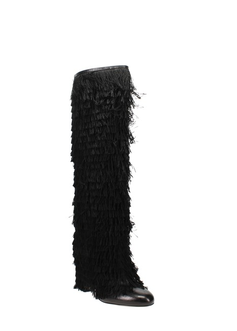 Item - Magalie 65 Fringed Leather High Block-heel Boots/Booties