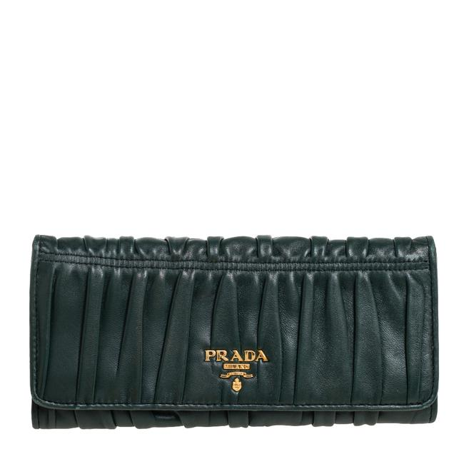 Item - Green Gaufre Nappa Leather Continental Wallet