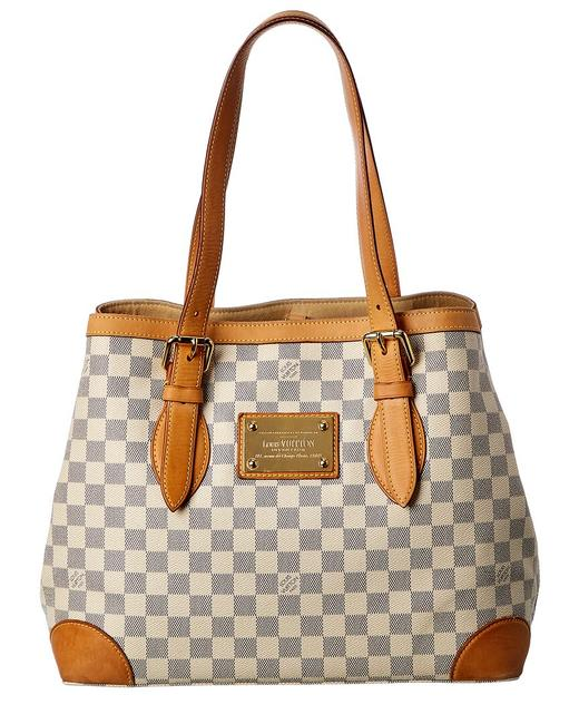 Item - Hampstead Pre-owned Damier Azur Canvas Mm Qjb09r0nwa052 Tote