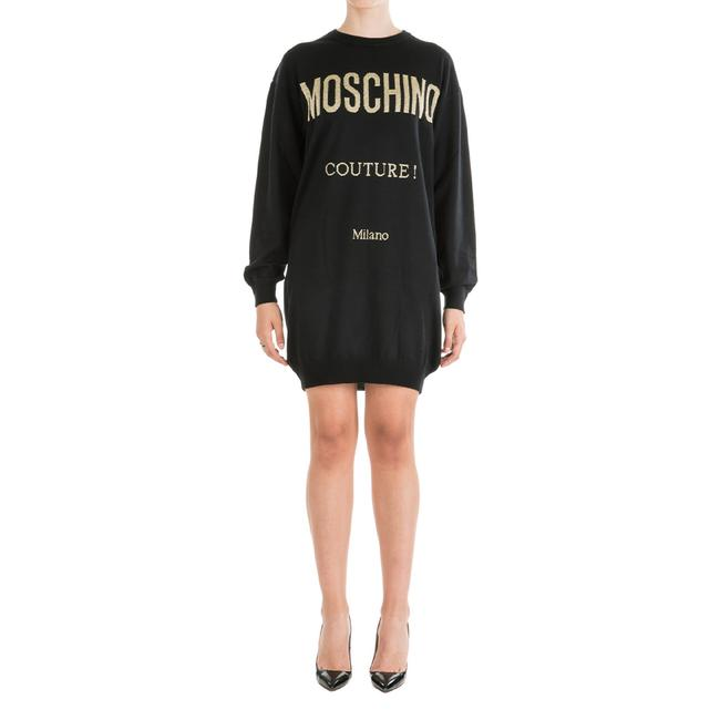 Item - Couture Women's Embroidered Logo Black Casual Maxi Dress