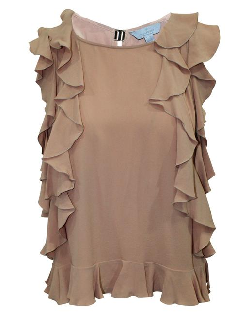 Item - Light Brown Top with Ruffles Blouse