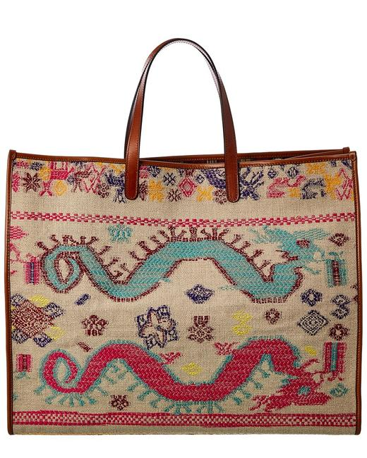 Item - Oversized Embroidered Canvas 1n391 1976 0800 Tote