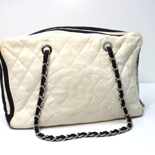 Item - Duffle Bag Quilted Shoulder Lambskin Leather Tote