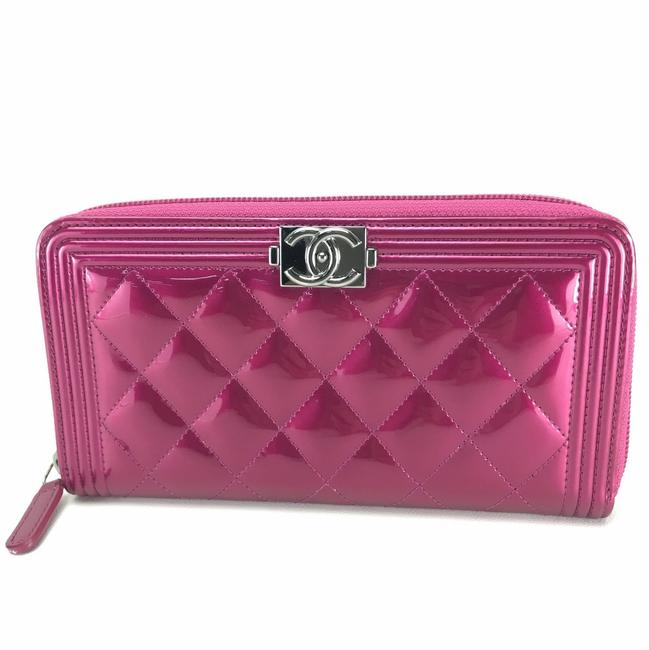 Item - Long Boy Zip Around Metallic Pink A68912 Wallet