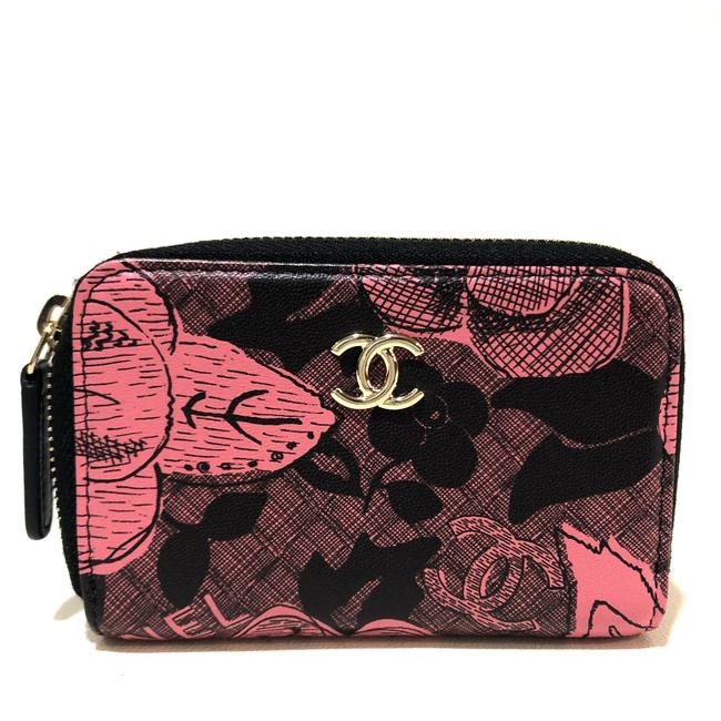Item - Cc Coin Compartment Camellia Coin Purse Pink Leather Wallet