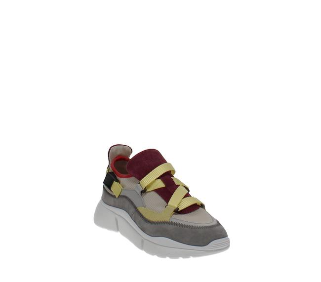 Chloé Sonnie Mixed-media Low-top Sneakers Athletic Chloé Sonnie Mixed-media Low-top Sneakers Athletic Image 1