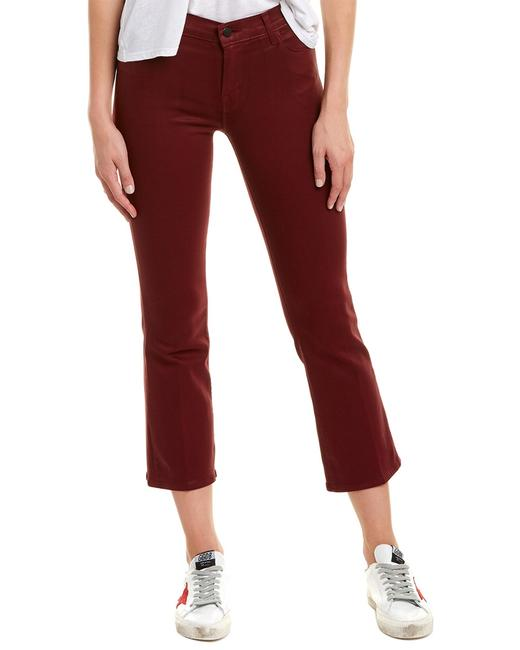Item - Selena Coated Oxblood Boot Crop Jb000368 Capri/Cropped Jeans