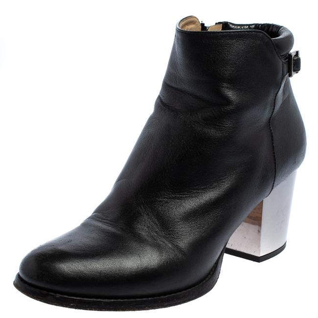 Item - Black Leather Zipper Ankle Size 35.5 Boots/Booties