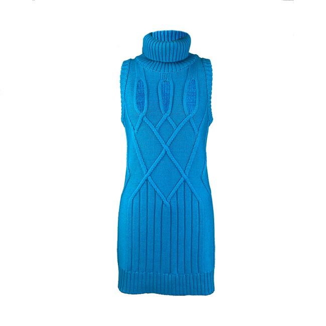Item - Women's Wool Knitted Blue Casual Maxi Dress