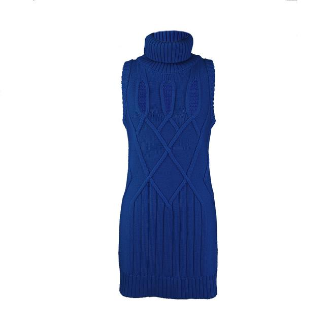 Item - Women's Wool Knitted Navy Blue Casual Maxi Dress
