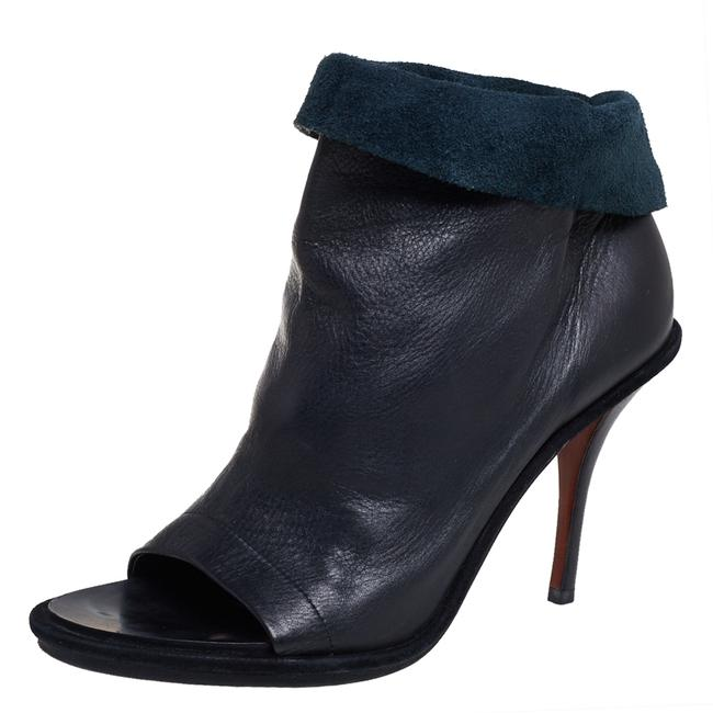 Item - Black Leather Glove Open Toe Ankle Size 39 Boots/Booties