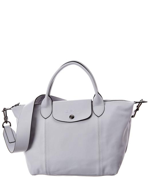 Longchamp Pliage Cuir Small Leather Logo Strap & Short Handle 1512 757 263  Tote