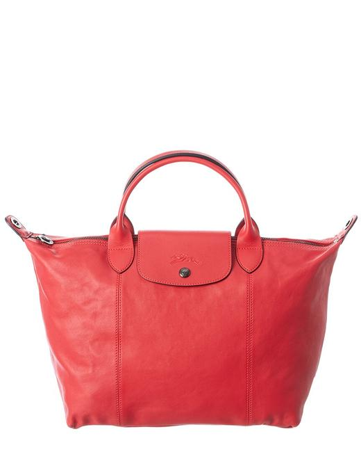 Item - Pliage Cuir Medium Leather Logo Strap & Short Handle 1515 757 545 Tote
