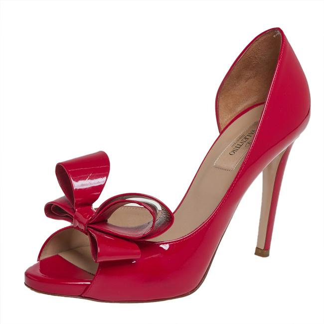 Item - Red Patent Leather Bow D'orsay Size 38.5 Pumps