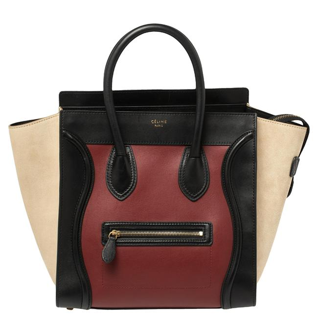 Item - Luggage Multicolor Leather and Suede Mini Tote