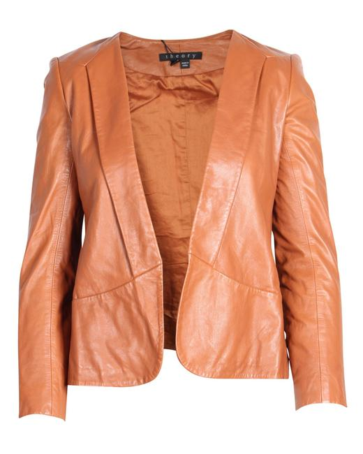 Item - Brown Leather Jacket Coat