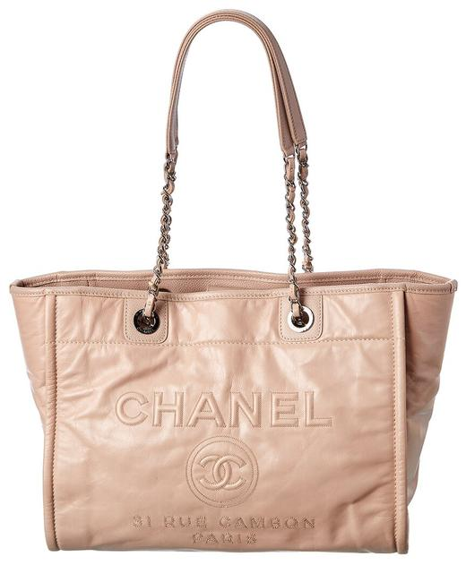Item - Deauville Pre-owned Pink Calfskin Leather Small 2250533 Tote