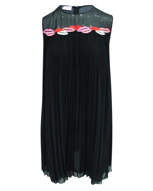 Item - Black Pleated Dress with Embroidery