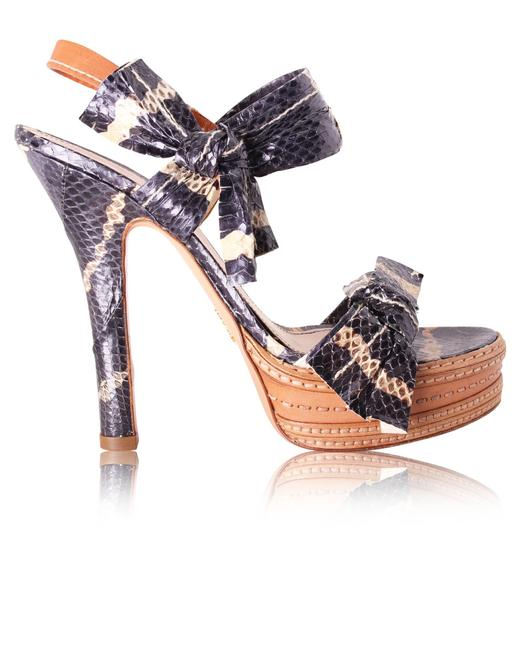 Item - Python Pumps with Bows Formal