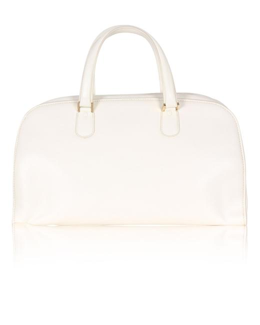 Item - Cream Hand Bag with Gold Zipper Tote