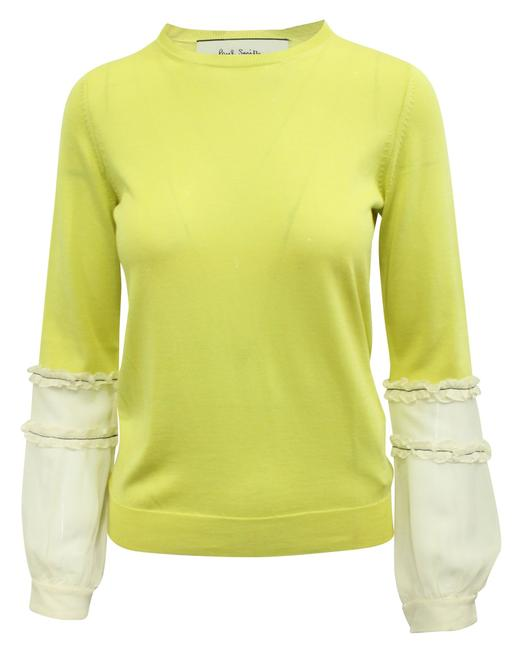 Item - Yellow Sweater with Beige Sleeves Coat