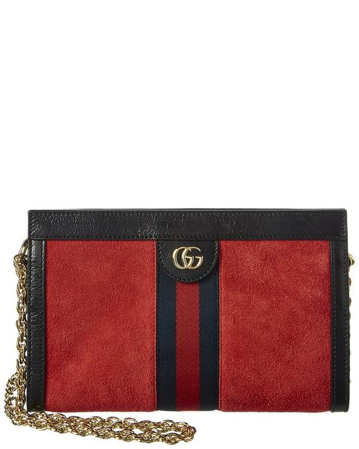 Gucci Ophidia Small Suede & Leather 503877 D6zyg 8670 Shoulder Bag Gucci Ophidia Small Suede & Leather 503877 D6zyg 8670 Shoulder Bag Image 1