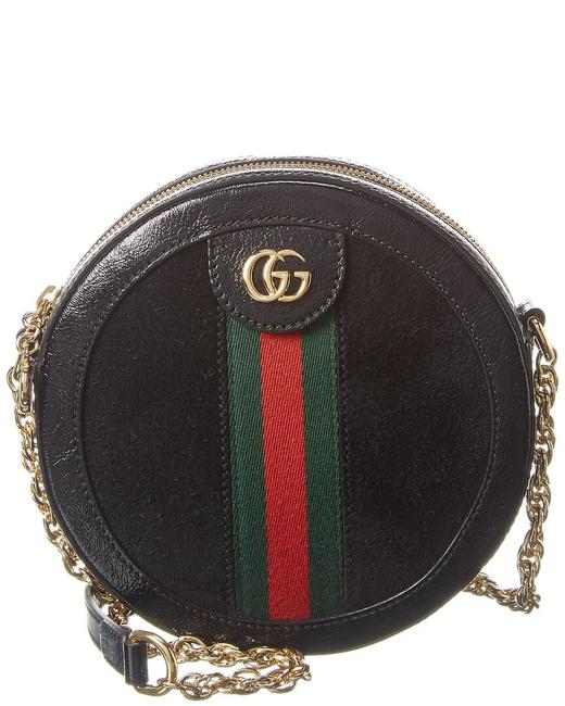 Gucci Ophidia Mini Round Suede & Leather 550618 D6zyb 1060 Shoulder Bag Gucci Ophidia Mini Round Suede & Leather 550618 D6zyb 1060 Shoulder Bag Image 1