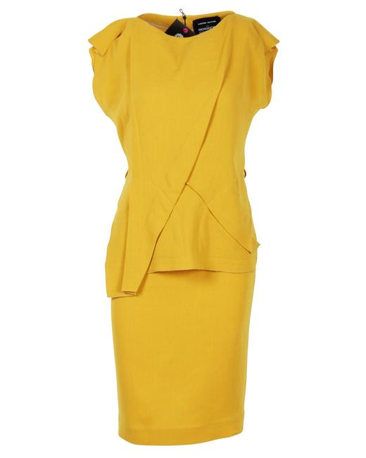 Item - Limited Edition For Bergdorf Goodman Mustard Yellow Sheath Dress