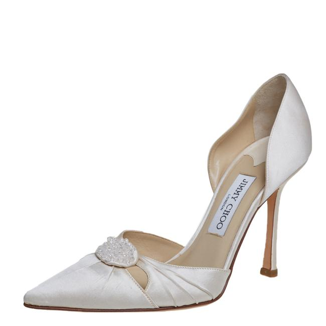 Item - Off White Satin D'orsay Size 39 Pumps