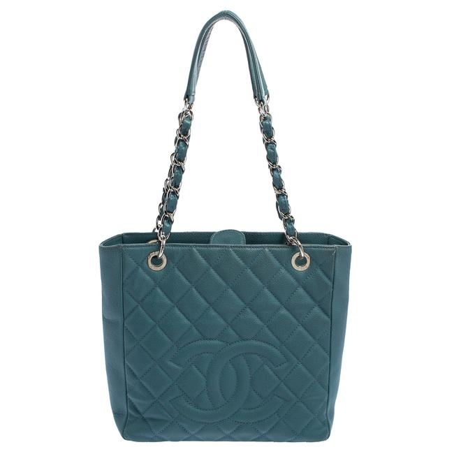 Item - Shopping Quilted Caviar Leather Petite Tote