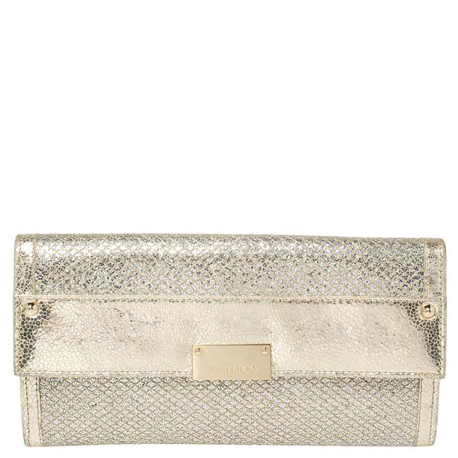 Item - Metallic Gold Leather and Glitter Reese Clutch