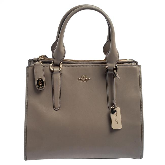 Item - Carryall Crosby Grey Leather Double Zip Tote