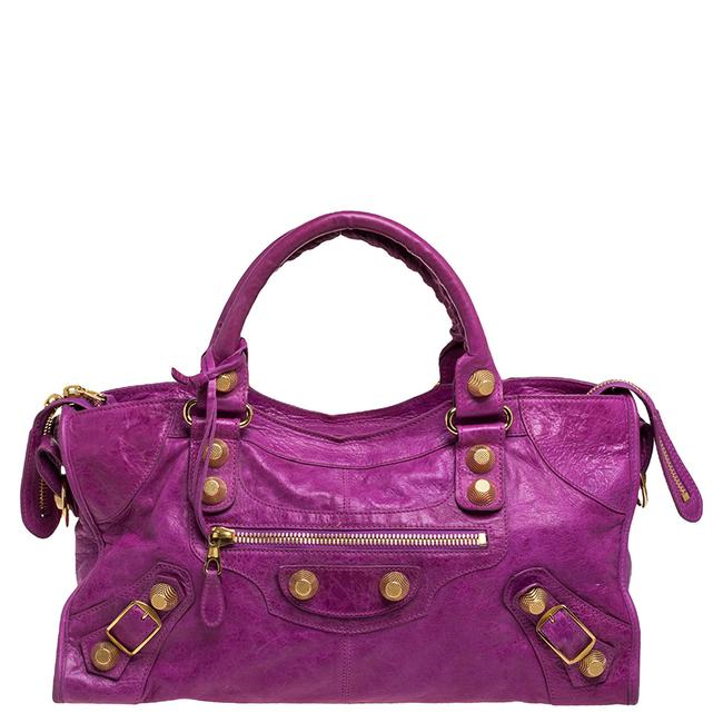 Item - Magenta Leather Ggh Part Time Tote