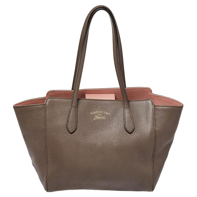 Item - Swing Beige Leather Small Tote