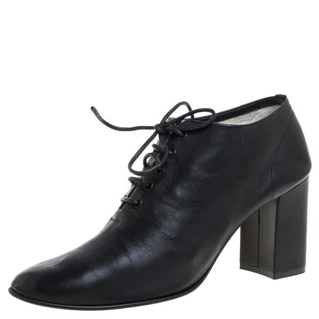 Item - Black Leather Block Ankle Size 39 Boots/Booties