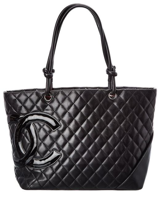 Item - Cambon Pre-owned Quilted Lambskin Leather 2403111 Tote
