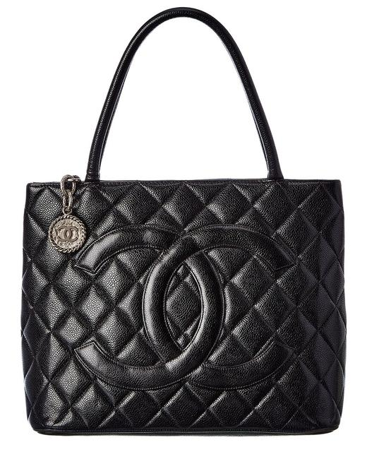 Item - Pre-owned Quilted Caviar Leather Medallion 2404084 Tote