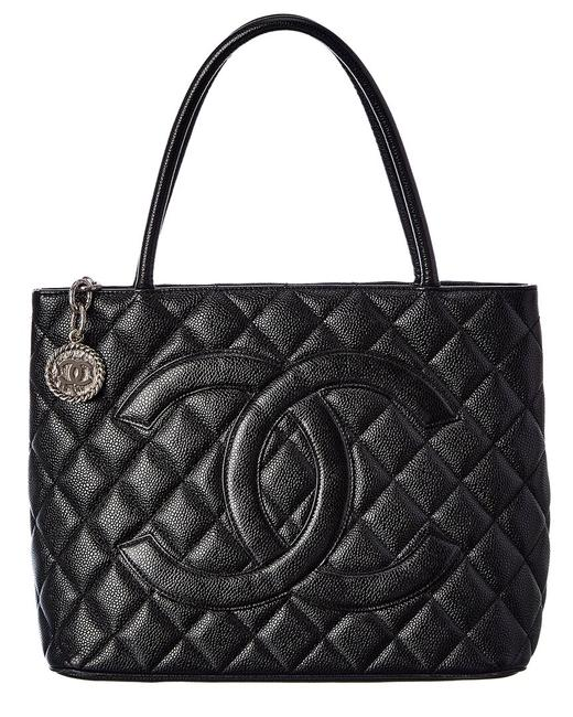 Item - Pre-owned Quilted Caviar Leather Medallion 2402719 Tote