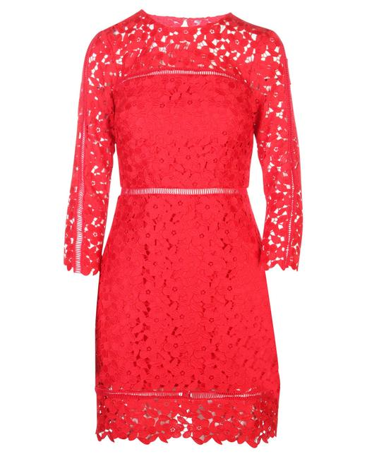 Item - Red Flower Lace Dress