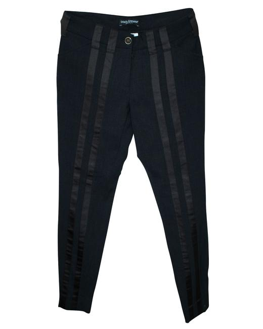 Item - Dark Grey with Brown Stripes At Front Pants