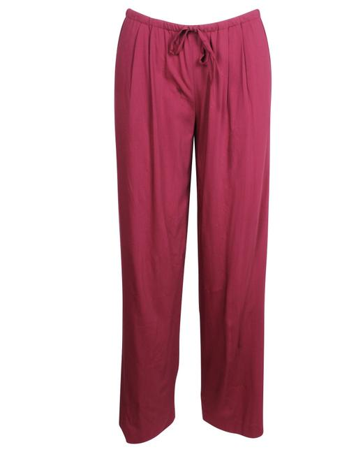 Item - Burgundy Double Face Wool Plare Pants