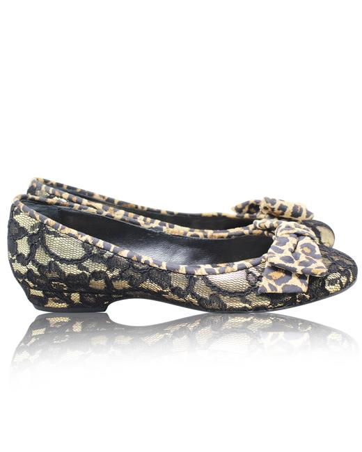 Item - Laced On Animal Printed Flats