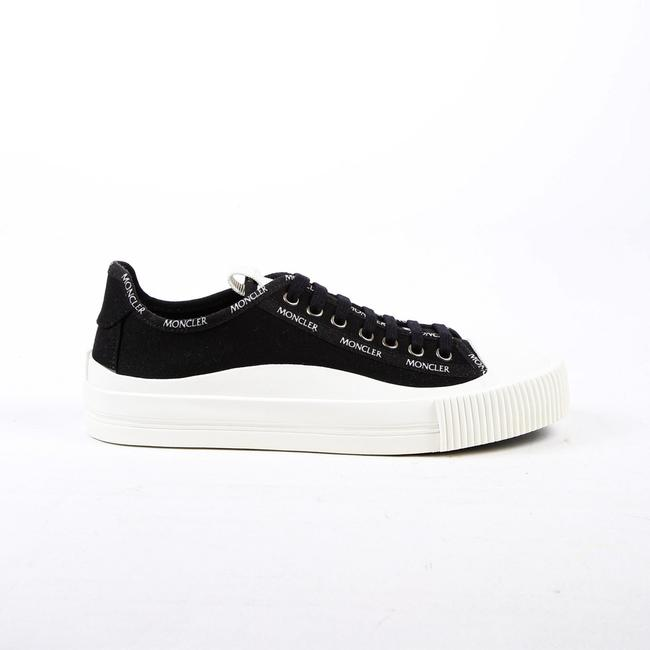 Item - Glossier Sneakers Black White Canvas Logo Rubber Low Top 39 Athletic
